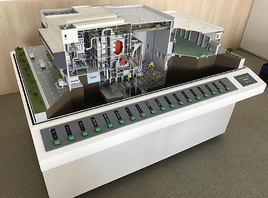 ごみ処理場模型 製作